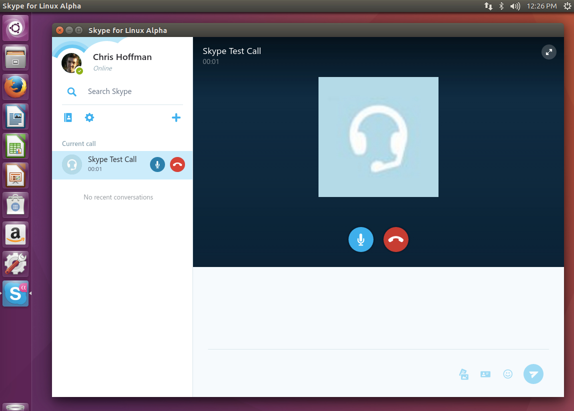 The look of Skype redesign in Linux.